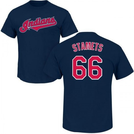 Eric Stamets Cleveland Indians Youth Navy Roster Name & Number T-Shirt -