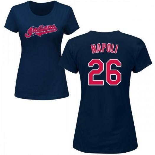 Mike Napoli Cleveland Indians Women's Navy Roster Name & Number T-Shirt -